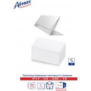 Полотенца бумажные Almax Professional V-сл. 2 сл 250 л  белые х 15