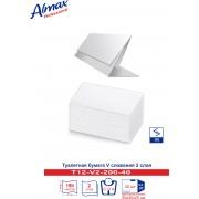 Туалетная бумага Almax Professional листовая V сл., 2-сл (10х21) 200 л. х 40