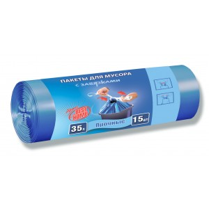 Almax 35 л 15 шт прочные с завязками